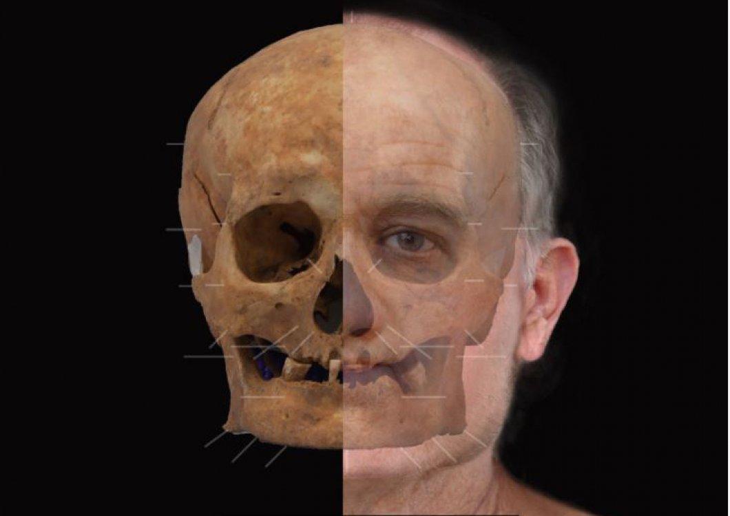 Jak vypadali muži ve středověku? Vědci díky 600 let staré lebce sestavili mužskou podobiznu